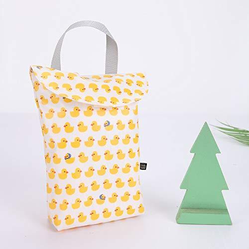 Dinroll Handtasche mit Klettverschluss, für draußen, Cartoon-Druck, wasserfest