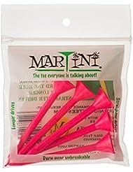 """Martini Tees de Golf 3–1/4""""plástico 5unidades (varios colores) - DMT003-PINK, Rosado"""