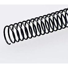 Fellowes ESP024– Pack di 100 spirali metalliche, 24 mm, colore: nero