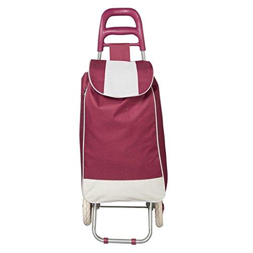 JXJJD Ziehen Traktoren Shopping cart Portable Hand Falten (Color : B) (Shopping Cart Falten)