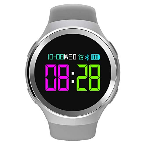 XYQY Color Screen Smart Watch Round Screen Waterproof Sports Bracelet, 180 Days Long Standby,Gray