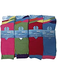 Mens Colourful Design Socks Size 6-11 (Pack of 6 pairs)