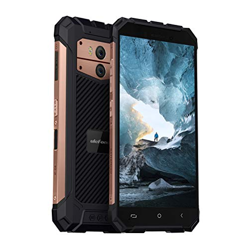 Ulefone Armor X2 2019 Android 8.1 Outdoor Handy (13,97 cm (5,5 Zoll) Touch-Display, 16GB Speicher, 5500mAh Akku, NFC, Fingerabdruck, IP68 Handy Wasserdicht, 13MP + 5MP Kameras) Rosegold
