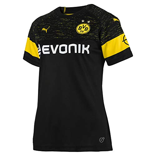 PUMA Damen BVB WMS Away Shirt Replica Evonik with OPEL Logo Trikot, Black, L