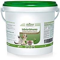 AniForte Psyllium Entero 1 kg Para Perros, gatos y Caballos. Rico en Fibra y Mucílago. Calidad de Alimentos Crudos Indios.