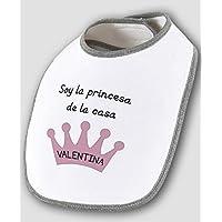 Babero bebé bandana personalizado corona con nombre 100% algodón, príncipe o princesa, regalos únicos y originales recién nacidos