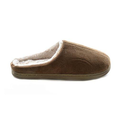 Pantofole Invernali Tinta Unita - Donna Marrone
