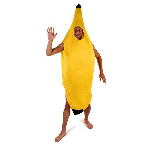 b) (Bananen-mann-outfit)