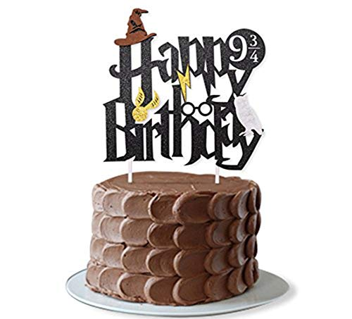 JeVenis Harry Potter Geburtstagskuchendekoration für Jungen, Party-Dekoration, Supplies Geburtstag Kuchen Toppers Dekorationen