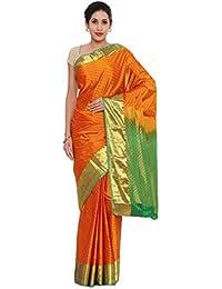 CLASSICATE From the house of Classicate From The House Of The Chennai Silks - Kanjivaram Silk Saree - Dark Chedder Orange - (CCMYSS6367)