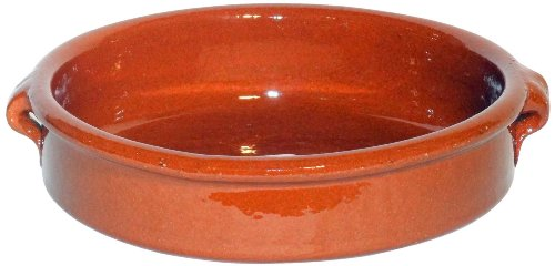 Amazing Cookware - Fuente redonda (terracota, 20 cm), color marrón