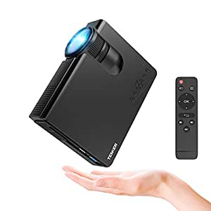 Projecteur, TENKER Q5 Mini Projecteur Video 2200 Lumens Full HD 1080p Projecteur LED Portable Soutien HDMI USB TF VGA AV pour iPhone iPad Smartphone TV Xbox PC