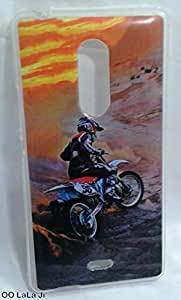 Soft Fancy Back Cover For Micromax Canvas Selfie 4 Q349 - Bike Print