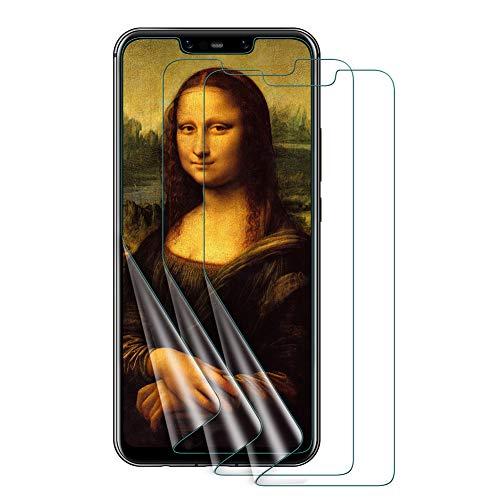VICKSONGS Schutzfolie für Huawei Mate 20 Lite, Blasenfrei, Anti-Kratzen, Anti-Öl, HD Klar Flexible [Nicht Panzerglas] Bildschirmschutzfolie für Huawei Mate 20 Lite Folie [3 Stück]