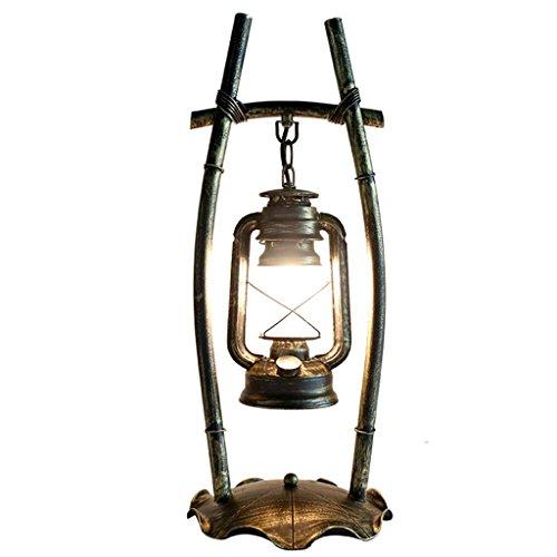 LHL-DD Retro Altertümlich Persönlichkeit Schlafzimmer Arbeitszimmer Schreibtischlampe Bar Bügeleisen Kerosin-Lampe Kreative chinesischen Antike Scheune Laterne Tischleuchte