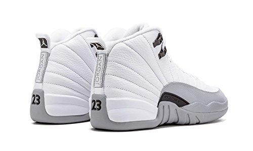 Nike  Air Jordan 12 Retro Gg, espadrilles de basket-ball fille Blanc