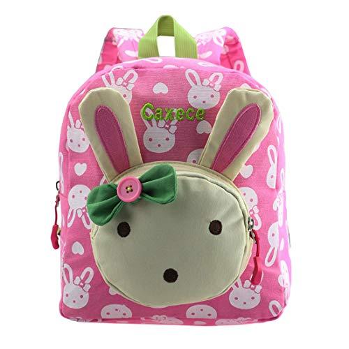 (Cute Rabbit Kinder Rucksack Kleine Schultasche für Mädchen Buch Tasche für Kleine Kinder unter 3 Jahr (Pink))