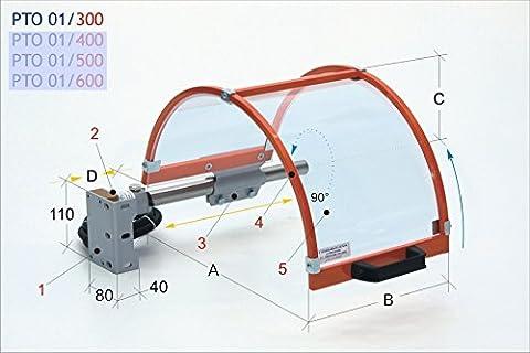 Protection de sécurité pour mandrin Tour à PTO 01/300 complet avec sécurité micro-interrupteur à - Bouclier de sécurité pour protection