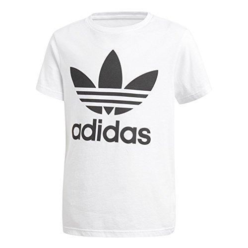 adidas Kinder Trefoil T-Shirt, White/Black, 152