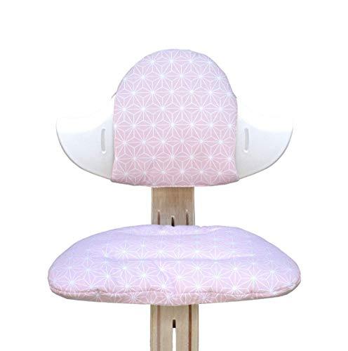 Blausberg Baby - Sitzkissen Set für Nomi Hochstuhl von Evomove - Happy Star Rosa