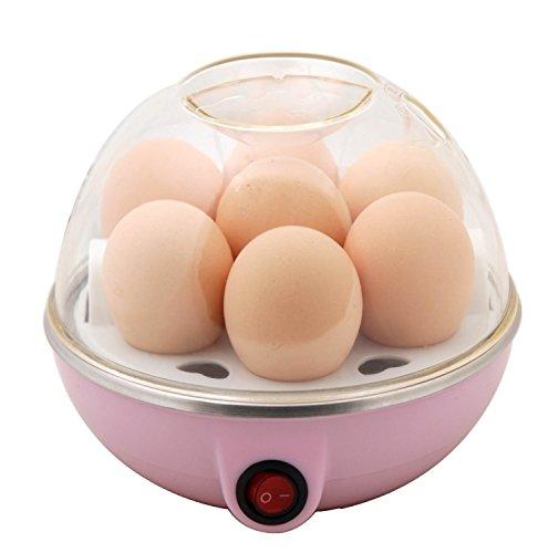 Electric Egg Boiler Poacher & Egg Steamer (Pink)