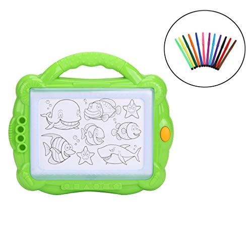 chsene Entwicklung Lernspielzeug Bildung Spielzeug Gute Geschenke,Pädagogisches Kindergekritzel-Spielzeug-elektrisches Beleuchtung-löschbares magnetisches Reißbrett ()