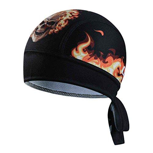 Sommer-Männer Bike Kühlkappe Breathfahrradhelm Cap Kopftuch Stirnband Pandiki (Schädel Kappen, Helme)