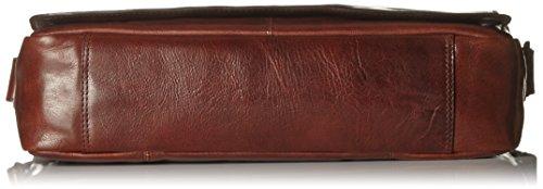 Leonhard Heyden Cambridge Sac bandoulière L cuir 40 cm compartiment ordinateur portable Marron