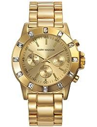 Mark Maddox MM3003-90 - Reloj de cuarzo para mujer, correa de otros materiales color dorado