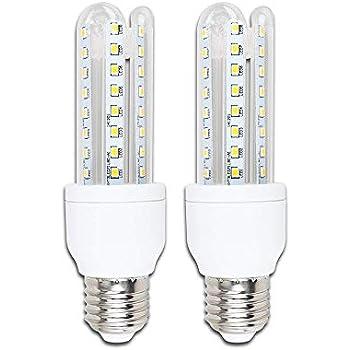 Pack de 2 Bombillas LED B5 T3 3U, 9W, casquillo gordo E27, luz calida 3000K