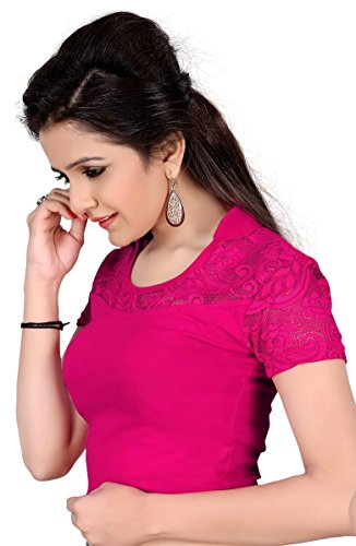 vibes-designer-full-stitched-stretchable-free-size-saree-blouse-with-half-sleeves
