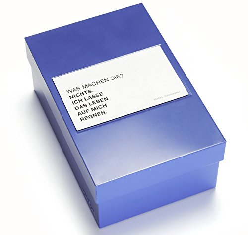 WANDLER® by Infinity Boxes Boxen-Set Leben, Magnet Leben und Box, klein, B11,3xL17,3xH7cm, blau (Frau Kleiderschrank Jeder)