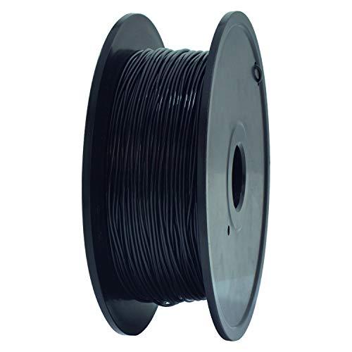 GEEETECH TPU Filamento flexible 1.75mm Negro, Impresora 3D Filamento 400g 1 Carrete