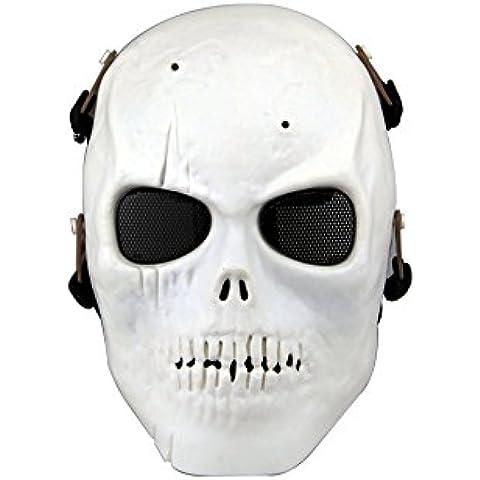iBaste Máscara,careta,disfraz del craneo de esqueleto para fiesta,Halloween/careta para CS,operaciones en el campo/careta completa