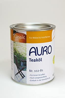 AURO Gartenmöbelöl, Classic - Teak - 0,75L von AURO AG auf TapetenShop