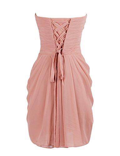 Dressystar Damen Kurz Chiffon Trägerlos Herzförmig Abendkleider Cocktailkleider Mintgrün