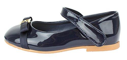 howlovelyis fille robe de luxe Mary Jane Classique Plat Chaussures Bleu Marine