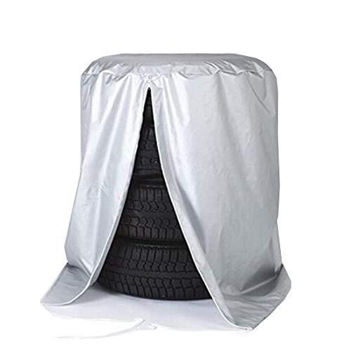 CHAOXIANG Abdeckung Abdeckplane Oxford-Tuch Auto Reifen Speicherabdeckung Wasserdicht Feuchtigkeitsfest Staubdicht 2 Größen (Farbe : Gray, größe : 83x83x120cm)