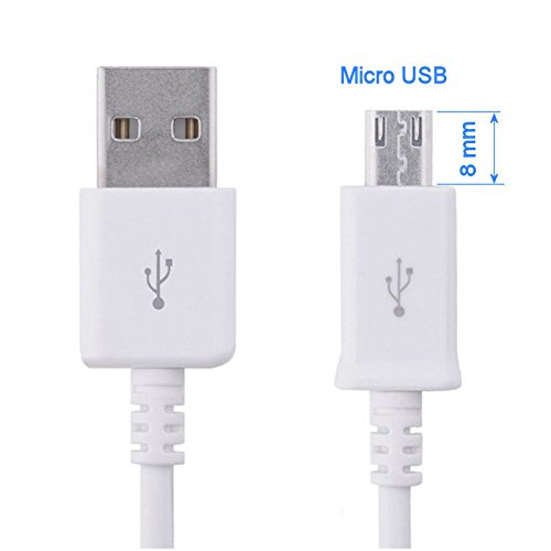 Cdma Verizon-handy (KRS - ST2-W - Langer Stecker Stecker 8 mm USB SYNC cable kabel Datenkabel Ladekabel Micro USB für Samsung S4 S5 S6 HTC One Touch /one Touch mini ca 90 cm weiss)