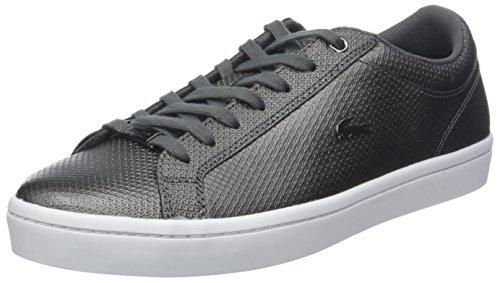 Lacoste Damen Straightset 318 2 Caw Sneaker, Schwarz (Blk/Wht 312), 39 EU