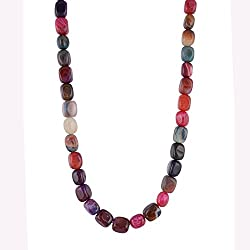 Kastiya Jewels Multi Colour Jade Semi Precious Gemstone Beads Necklace For Women & Girls