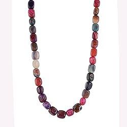 Kastiya Jewels Multi Colour Jade Semi Precious Gemstone Beads Necklace For Women & Girls