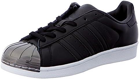 adidas Damen Superstar Metal Toe Sneaker, Schwarz (Cblack/Cblack/Ftwwht), 39 1/3 EU