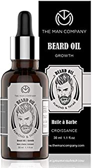 The Man Company Beard Growth Oil With Almond & Thyme | Promotes Growth, Nourishment | Paraben Free & S