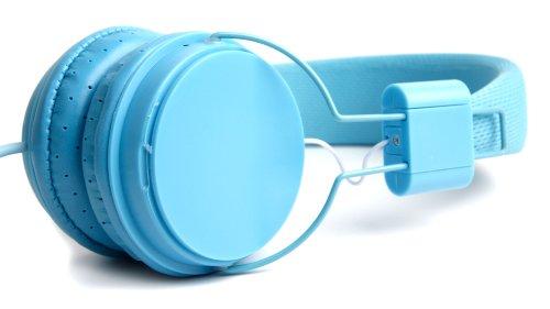 Blauer Kinder-Kopfhörer von DURAGADGET - größeneinstellbar, leicht zu verstauen und mit integriertem Mikrofon - für Lexibook Disney Princess Kids Tablet