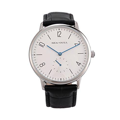 Freizeit-automatische mechanische echtes Leder wasserdichte Uhr mit Rom Digital Business für verschiedene Anlässe D819.612