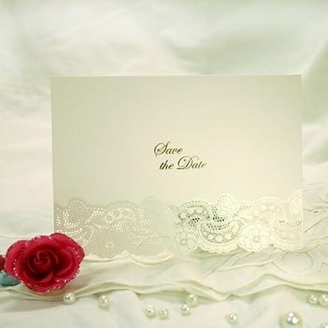 3d mariposa corte láser DIY invitaciones de boda y artículos de papelería, Blanco, 3D Save the Date x