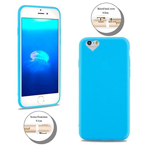 2×Cover iPhone 6 Plus (5.5 pollici) Spiritsun Apple 6S Plus (5.5 pollici) Moda Ultraslim TPU Case Elegante Carina Souple Flessibile Morbido Silicone Copertura Perfetta Protezione Shell Paraurti Custod Blu + Lago Blu