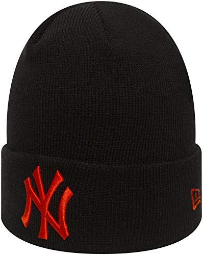 New Era - MLB New York Yankees League Essential Knit Kinder Cuff Beanie - Schwarz Größe Youth (8-14 Jahre), Farbe Schwarz