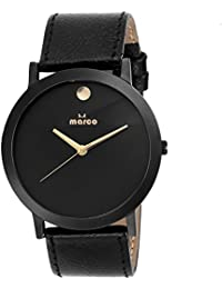 MARCO SLIM _ ELITE 003 ALL BLACK ANALOGUE WATCHAIN FOR MEN & BOYS